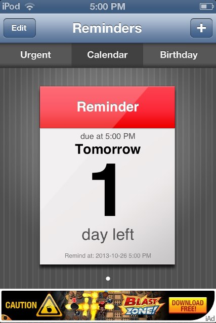 how to turn off reminders ion ipad