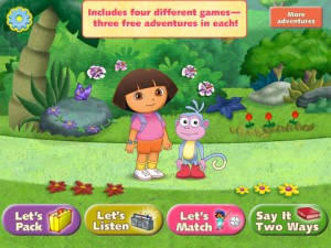 Dora Let's Play Backpack App Review