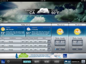 The Weather Channel® For iPad App Review