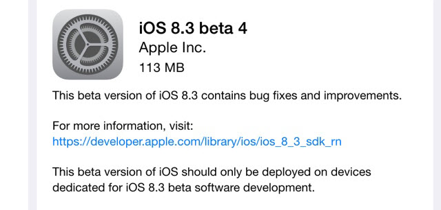Apple puts out iOS 8.3 update