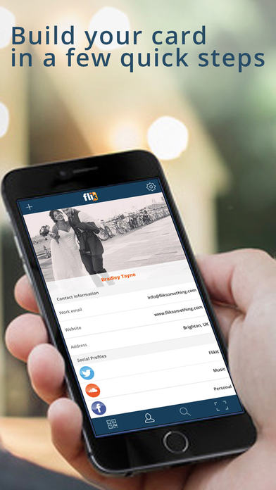 Flikit app review a fantastic business social media tool apppicker register profile and forget about business cards reheart Gallery