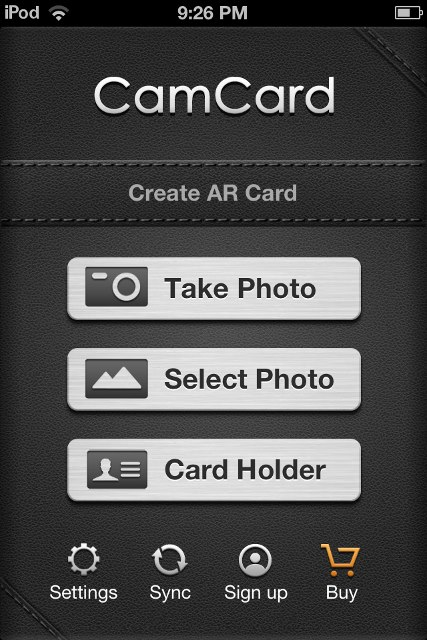 CamCard Free app review no need to carry a collection of