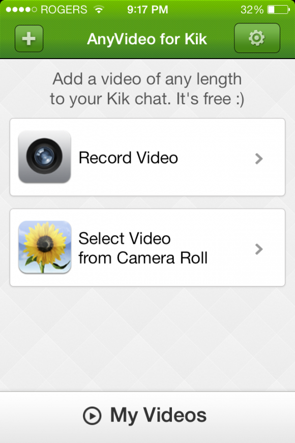 Video-Kik app review: share videos of any size or length