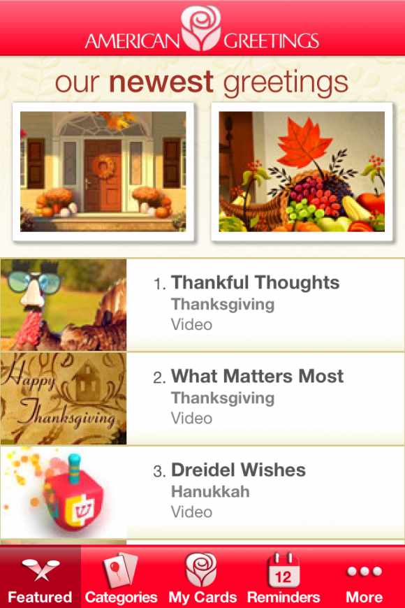 American greetings ecards app review show them how much you care full featured app m4hsunfo