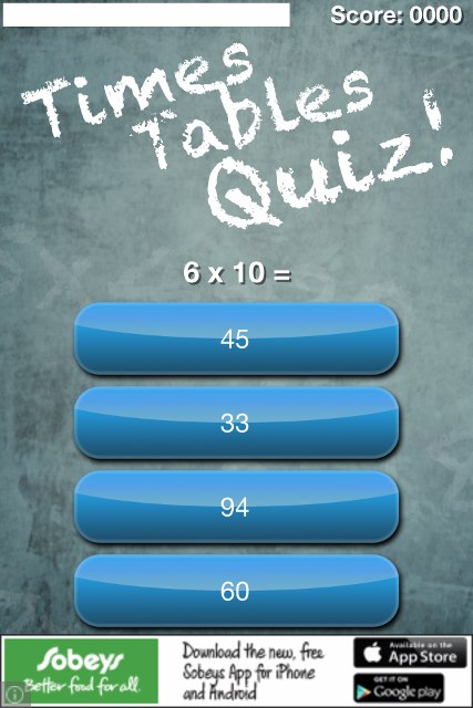 Times Tables Quiz app review: become a math genius - appPicker