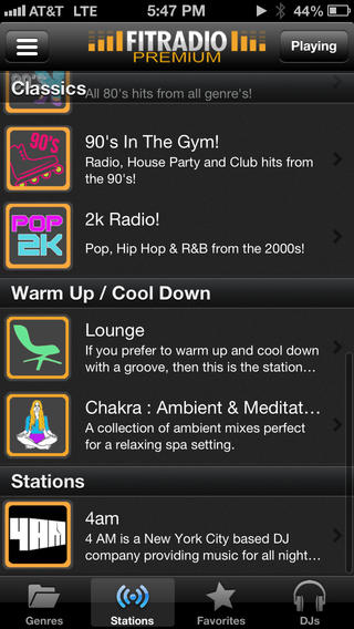 FIT Radio Workout Music app review: the only fitness app that
