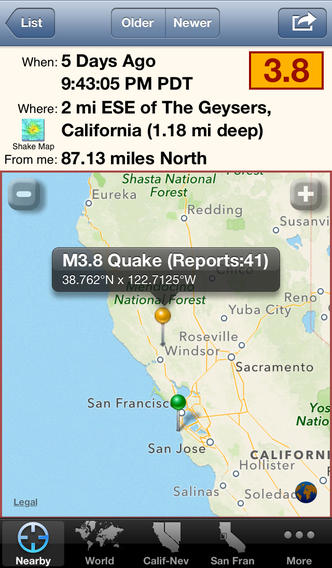 iFeltThat Earthquake screenshot 2
