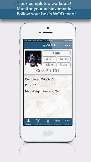 myWOD  track your workouts and achievements