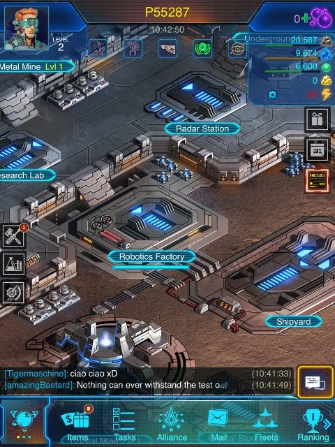 Galaxy At War Online app review: a space combat strategy
