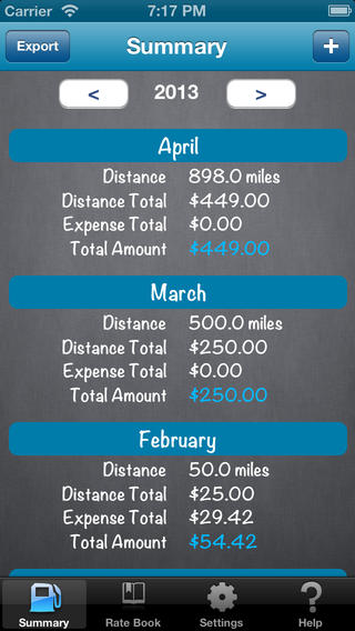 Mileage Expense Log FREE app screenshot 1