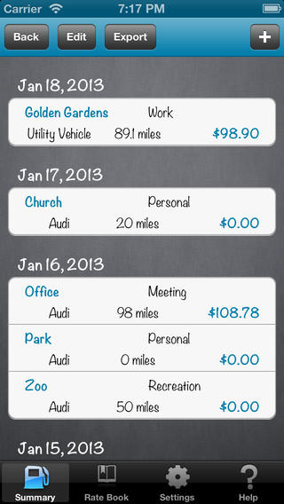 Mileage Expense Log FREE app screenshot 2