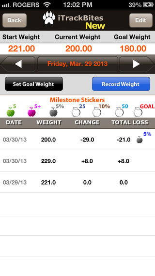 Points Calculator for Weight Loss and Exercise with Food Value screenshot 3