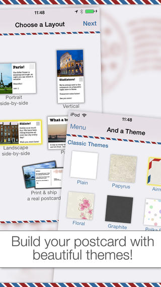 Postale app screenshot 1