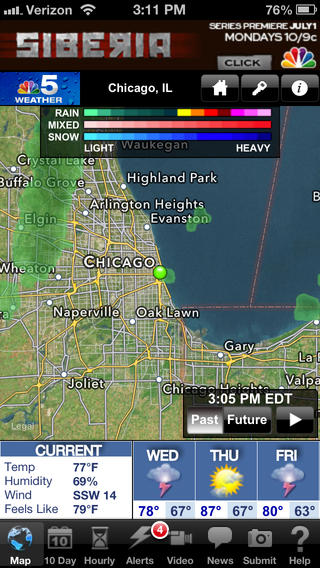 NBC 5 StormTeam app review: providing the latest weather for