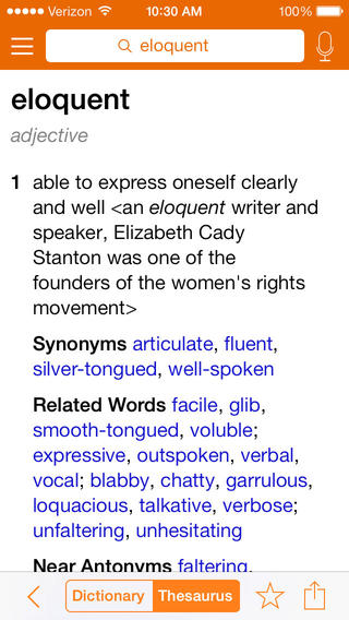 Merriam-Webster Dictionary & Thesaurus screenshot 2
