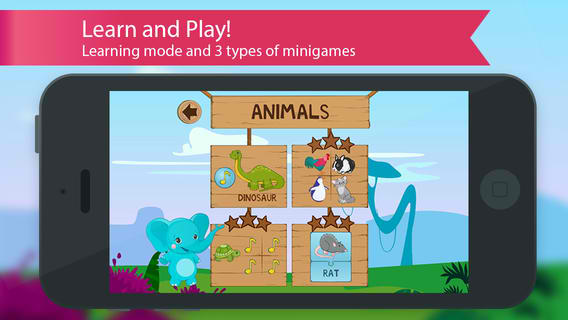 Learn through the use of flashcards and mini games
