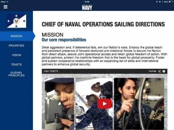 What does the navy do?