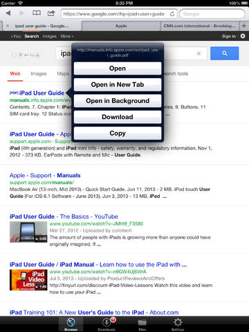 how to find downloads on ipad air