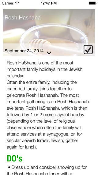 Read the do's and dont's of Jewish holiday