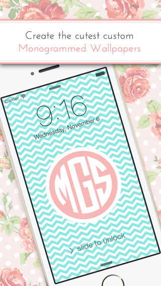 monogram it  app review  personalize your ios device with custom wallpapers
