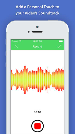 VideoSound  record from within the app