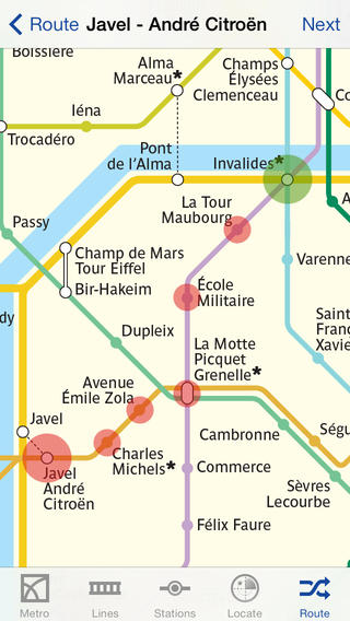 Metro Paris Subway includes maps and a route planner