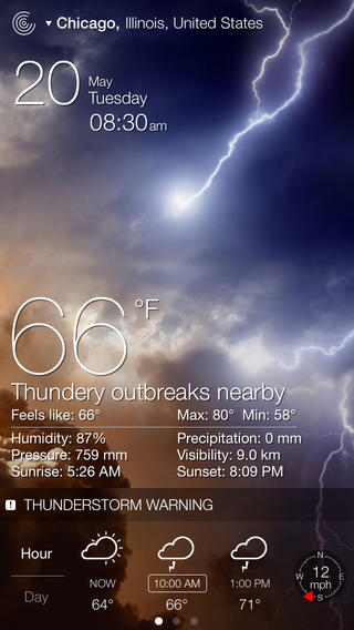 Weather Live Reloaded gorgeous backgrounds