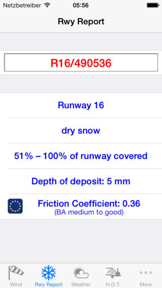 Access runway reports