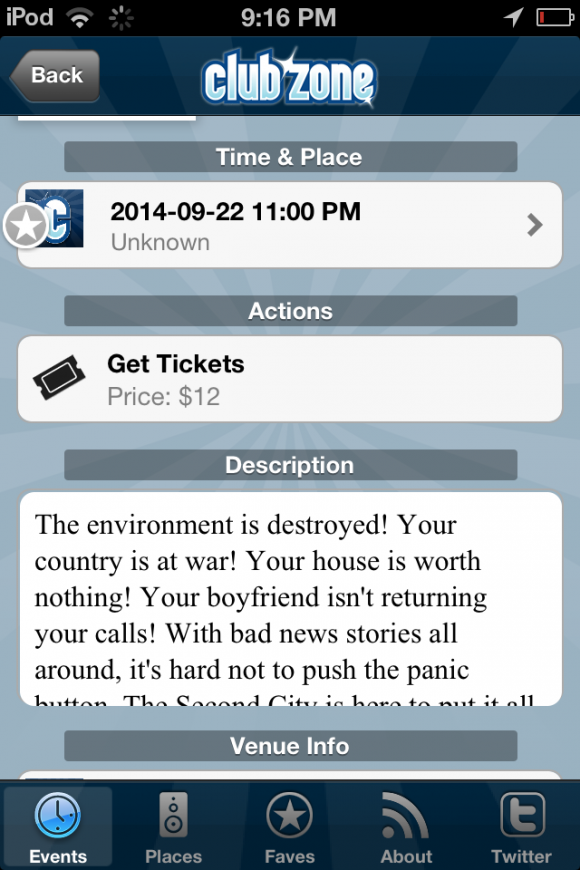 Get details on the various night spots and events