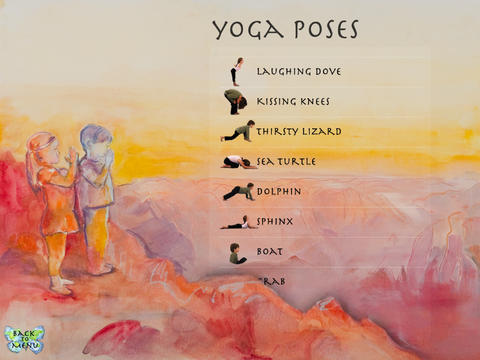 Lots of yoga poses