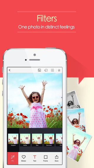 Add fun and professional filters to photos
