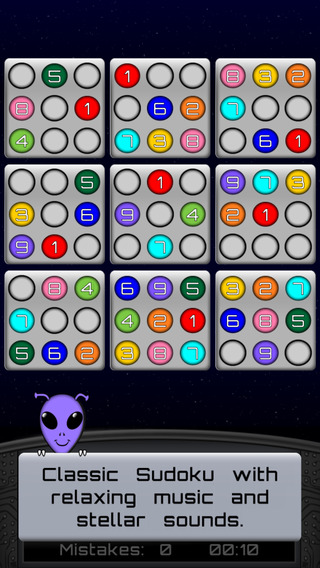 Sudoku In Space screenshot