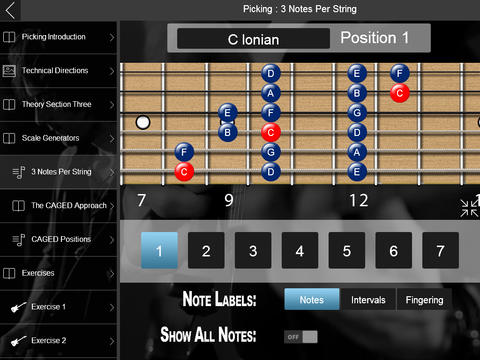 Learn scales, chords, and more