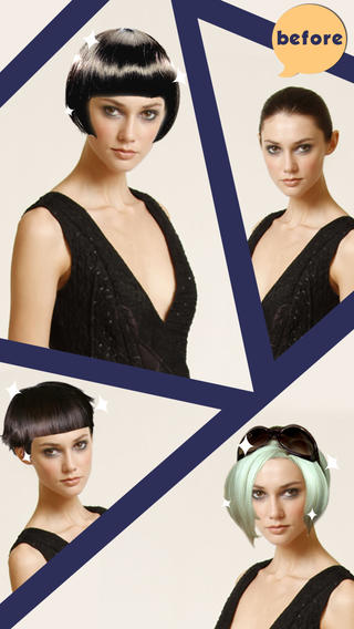 Try on a variety of hairstyles and colors