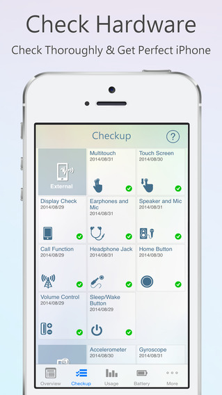 Perform a checkup on your device