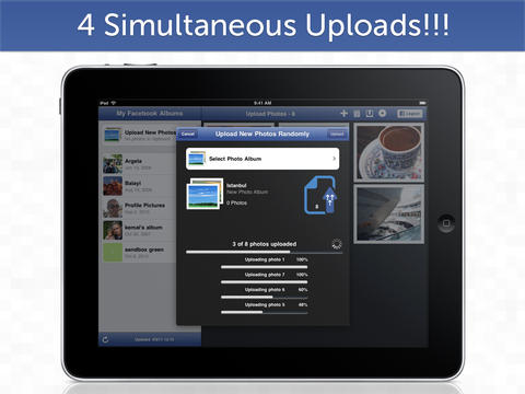 Upload 4 photos at once
