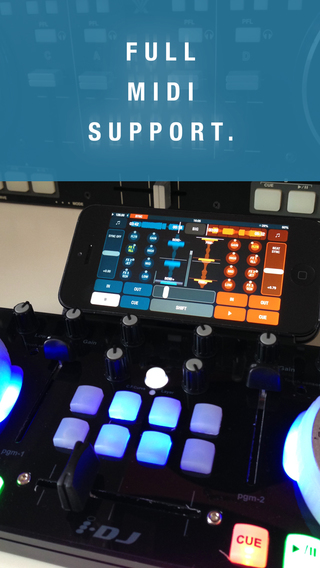 MIDI-mappable multi-deck control