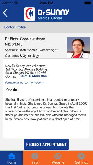 View doctor profiles
