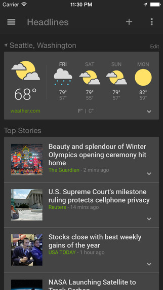 Google News & Weather app review - appPicker