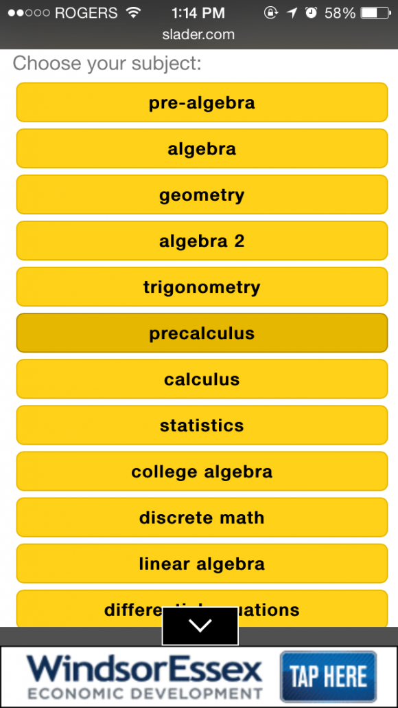 Best math homework help app