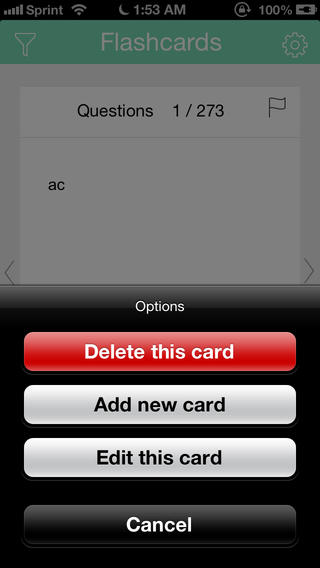 Create your own custom flashcards and store them