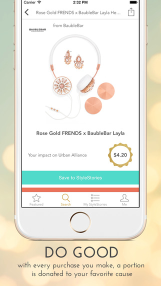 Browse through the app with ease and find the items you want
