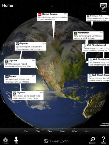 View tweets geographically
