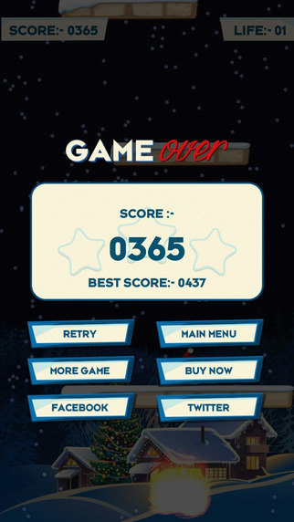 Share your high score on Facebook and Twitter