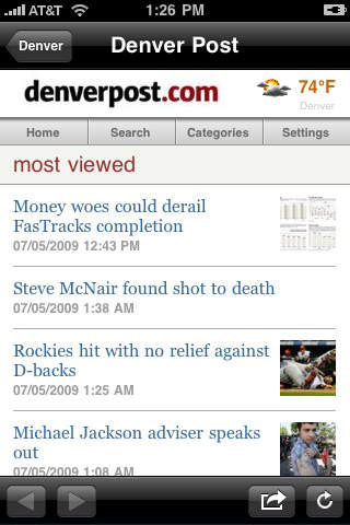 iDevice-optimized news stories