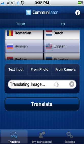 Translate to a number of different languages