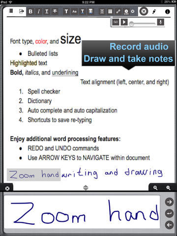 Write and draw on documents and images