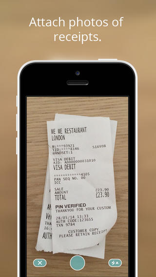 Attach pictures of receipts
