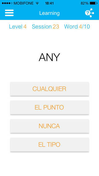 Match the English word with the Spanish one