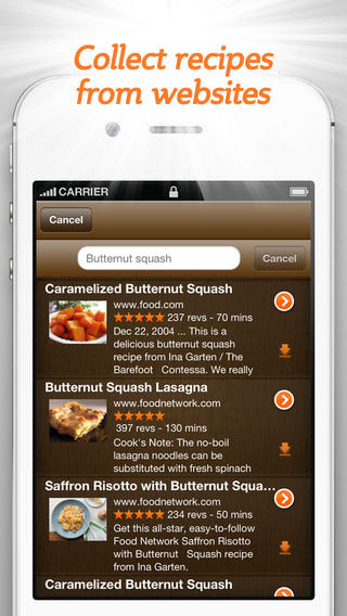 Add recipes to the app for it to use and pick from